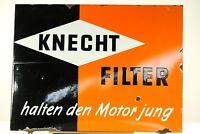 KNECHT FILTER Emailschild 78cm x 58cm Young.- Oldtimer Vintage 50er Jahre