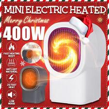 110V New 400W Mini Small Black Ceramic Electric Heater Home Office Heating Fan