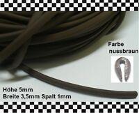 3m Kantenschutz braun (€ 4,95/m) f. 1mm Gummidichtung Gummiprofil 6812.14