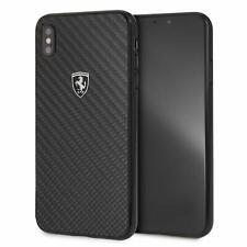 Funda Original Ferrari para Apple iPhone XS MAX Fibra Carbono Negra