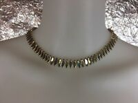 Women's Vintage 1970's Two-Tone Modernist Necklace, Silver/Gold, Pre-Owned
