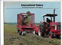 Original International 400 Series Rectangular 2400 Bigroll Balers Sales Brochure