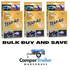 Tear Aid Type A - BULK PACK x 3 - Repair Canvas, Tent, Pack, Sail, Camper, Swag