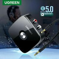 Ugreen Récepteur Bluetooth 5.0 Stereo Adaptateur Audio Sans Fil 3.5mm et 2 RCA
