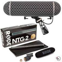 RODE NTG-2 Shotgun Condenser Video Camera Microphone Mic & Blimp Windshield