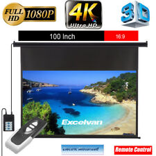 """100"""" 16:9 Motorisé Écran de projection électrique Projector 3D HD + Télécommande"""