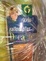 Vtg NOS Mid-Century Gallon Plus Decanter Plastic Pitcher & 12 Juice Cups tag Bag