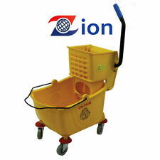 26 Qt- Metro Commercial Mop Bucket with Side Press Wringer, Yellow