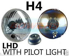 "5.75"" 5 3/4"" LHD CLASSIC CAR CRYSTAL HEADLAMP HEADLIGHT HALOGEN H4 UPGRADE"