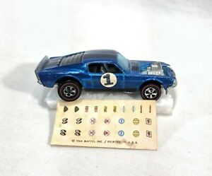 Hot Wheels Redline Boss Hoss Mustang Blue With Dark Champagne Interior Spoilers
