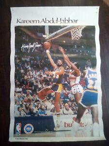 VINTAGE los angeles lakers sports illustrated poster KAREEM ABDUL JABBAR