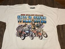 Vintage 1996 New Zealand Wild Ones Animals On Motorcycles XL/2XL T Shirt 90s