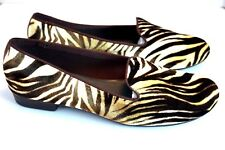 NEW Womens Zebra Pattern Slip On Shoes size EU37 Clothing Accessories Ex-Stock
