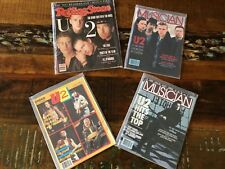 U2 Collection of 4 Mint Magazines from 1987-88 RollingStone, Musician, Creem