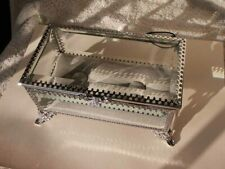 Lovely NWT Beveled Glass Jewelry Box Cynthia Rowley