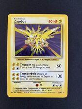 More details for  zapdos 16/102 rare holo  base set  pokemon card   mint condition