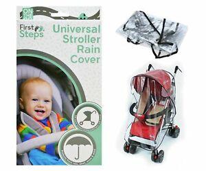 Universal transparent Rain Cover Buggy Pushchair/Stroller snow wind UK Seller