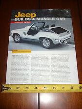 1970 JEEP XJ-001 CONCEPT MUSCLE CAR - ORIGINAL 2005 ARTICLE