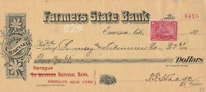 FARMERS STATE BANK, EMERSON, NEBRASKA    WITH REVENUE 1901