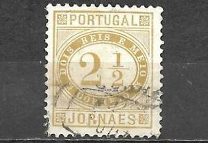Portugal 1876 Newspaper Stamp Scott #P1 2 1/2R Used