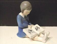 Bing & Grondahl Royal Copenhagen Girl Reading Book Figurine Artist Claire Weiss