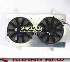 """For NISSAN 200SX SILVIA S14 S15 SR20DET Radiator Aluminum Shroud + 2* 12"""" Fans"""