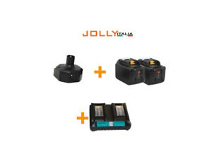 Kit alimentazione JollyItalia per pettina V34 2 batterie Litio 18V 9Ah e carica