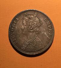 INDES BRITANNIQUES 1 ROUPIE VICTORIA 1890 BOMBAY - B - en ARGENT - QUALITE -