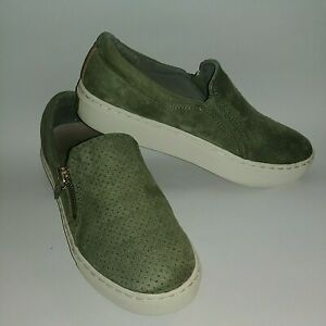 Dr Scholls No Chill Slip on suede Sneakers shoes Green Comfort Sz 6 Women's