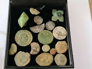 Job Lot of Metal Detecting Finds, Roman, Medieval, Coins, Artefacts