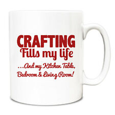 Red Crafting fills my life and everywhere else Mug A012