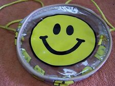 VINTAGE  SMILEY FACE SHOULDER STRAP PURSE MULTI COLORED NEW OLD STOCK ZIPPER TOP
