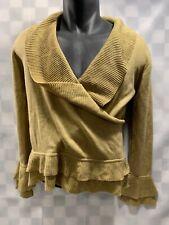 SOFT SURROUNDINGS Tan Cowl Sweater Women's Size S