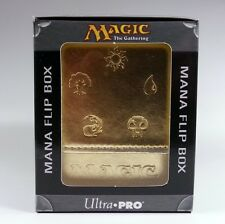 Deckbox Ultra Pro Magic MTG-Mana Flip Box Gold Deck Box colori oro