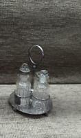 VINTAGE E.P.N.S. 4pce  CONDIMENT SET AND STAND
