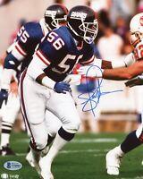 Lawrence Taylor Hand Signed New York Giants 8x10 Photo BAS COA Autograph LT
