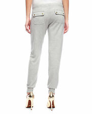 NWT-$118-Juicy Couture Gray Heather Dove Glamour Soft Slim Pants-Size Medium