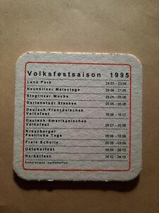Bierdeckel 1995 - Volksfestsaison - Schultheiss