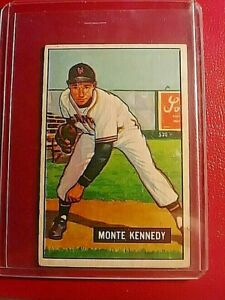 1951 Bowman #163 Monte Kennedy Giants VgEx (no creases)