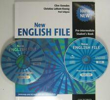 Oxford NEW ENGLISH FILE PRE - INTERMEDIATE STUDENT'S BOOKS CLIVE WITH DVD , MP 3