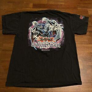 VTG YUGIOH Shirt Adult 2004 Gladiators Assault Yu Gi Oh Trading Cards