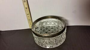 Candy Dish - Lead Crystal / Silver Trim