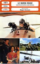 Fiche Cinéma Movie Card. Le Baron Rouge/Von Richthofen and brown (USA) 1971 (R3)