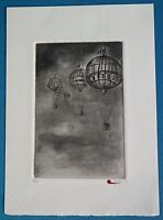 "Gregory Bada ""Dry Season"" Etching Limited Edition Signed"