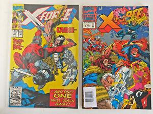 Lot of 2 Marvel Comics: X-Force Cable Deadpool No.15, X-Force Annual No.2 (9956)