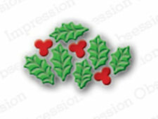 HOLLY LEAF CLUSTER DIE-Impression Obsession (098A) suitable for most die cutters