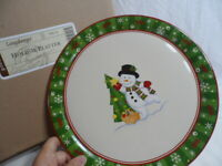 "***Longaberger Pottery Holiday 12"" Platter"