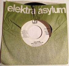 Leon Ware 45 Baby Don't Stop Me   mono/stereo  ELEKTRA PROMO  EX
