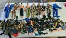 """Huge lot Of 9 -12"""" Inch GI Joe Action Figures 90s Weapons, and accessories NICE!"""