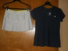 Tennis Outfit Kyodan Layered Skort M & Eleven by Venus Williams Shirt Top Size M